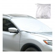 ER Frente posterior del coche Volver Sun Window Shade Protector solar Visor Cubierta Escudo con el imánPlata.