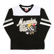 AFL Toddler Script Long sleeve Tee Collingwood Magpies [Size:6]