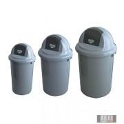 Belső műanyag hulladékgyűjtő, szemetes henger alakú, billenő fedéllel 3141-3142-3143