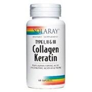 Colágeno Queratina (Collagen Keratin) 60 comprimidos de Solaray