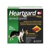 Heartgard Plus Chewables 6pk Green 26-50 lbs by MERIAL