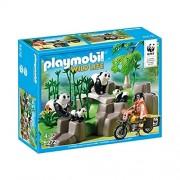 Playmobil wild 5272 life famille de pandas et bambous