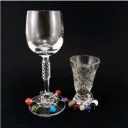 Ásvány gyöngy pohárjelölő