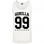 Gorilla 99 Loose Star Tank white L - Gorilla Sports