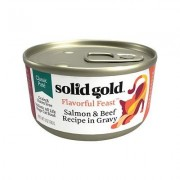 Solid Gold Wild Harvest Classic Pate Salmon & Beef Recipe Grain-Free Canned Cat Food, 3-oz, case of 12