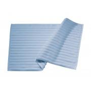 BLANC CERISE Tapis de bain Bleu glacier - coton peigné 1000 g/m²