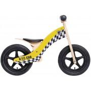 "Rebel Kidz Wood Air Lernlaufrad 12"" Taxi gelb Kinderfahrräder"