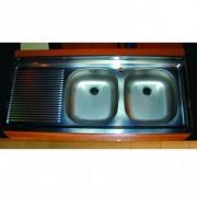 CHIUVETA INOX PE MASCA ZAN 721 (INCLUDE VENTIL SI PREAPLIN) L.120xA.50cm STANGA