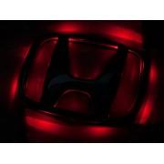 Эмблема со светодиодной подсветкой Honda красного и белого цвета «75x92»