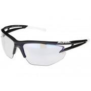 Alpina Eye-5 HR VLM+ black matt-white-black/blue mirror 2017 Brillen