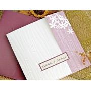 Invitación de boda Flores violeta