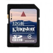 Card Kingston SDHC 32GB Class 4 SD4/32GB