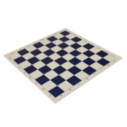 """Wholesale Chess 20"""" Tournament High Quality Vinyl Roll Up Chess Board Navy Blue"""