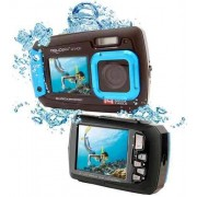 Goxtreme Aquapix W1400 Active Unterwasser-Digitalkamera mit Dual-Display Blau
