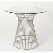 Replica Warren Platner - Wire Dining Table - stainless steel frame - 80cm or 90cm