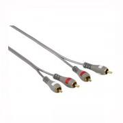 Audio Kabl 2x činč (muški) na 2x činč (muški), 5m, pozlaćeni, duplo izolovan, HAMA 78703