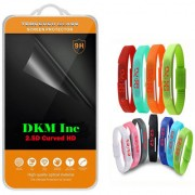 2.5D Curved Edge Clear HD Tempered Glass for Lava A89 with Waterproof LED Digital Jelly Watch