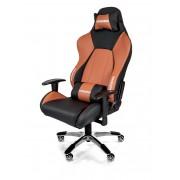 AKRacing PREMIUM Gaming Chair Black Brown V2 Ергономичен геймърски стол