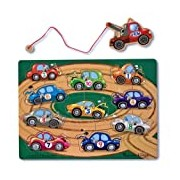 Melissa & Doug Magnetic Towing Game - Wooden Puzzle Board (10 pcs)