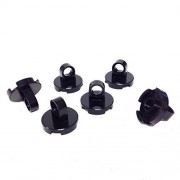 Lego Parts: Tile Round 2 x 2 - Thin Lifting Ring (PACK of 6 - Black)