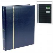 Caja fuerte 158 - 4 sellos disco/libro de inserción de plástico para libros 16 páginas negras en DIN A4 format - con dorado Premium en colour azul