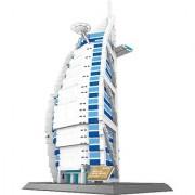 The BURJ AL ARAB hotel of Dubai BUILDING BLOCKS 1307 pcs HUGE GIFT box !!! Worlds great architecture series