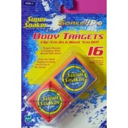 Super Soaker Soakertag Body Targets, 16 Targets with 2 Body Target Clips