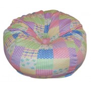 Ahh Products Pastel Patches Fleece Washable Bean Bag Chair Large