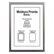 Moldura Pronta 40x50 Basic Prata Casa Castro