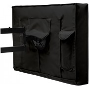 """Outdoor TV Cover - Weatherproof Universal Protector for 55"""" LCD, LED, Plasma Television Screens. Built In Bottom Seal and Remote Storage. Compatible with Standard Mounts and Stands - Black"""