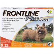 Frontline Plus Value 6pk Dogs 5-22 lbs by MERIAL