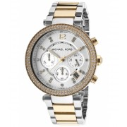 Michael Kors Parker Chrono Two-Tone Stainless Steel Silver-Tone Dial - MKORS-MK5626 Silver-ToneSilver-Tone