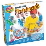 Small World Toys Creative - Shrinky Shiny Skateboards