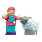 Best Buddies 2 Figure Set Girl with Lamb Friend