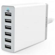 Incarcator retea Anker PowerIQ A2123322, 6 USB, 60W, Universal (Alb)