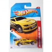 2011 Hot Wheels 187/244 - Thrill Racers Highway 11 1/6 - Nissan Silvia [S15] (Yellow)
