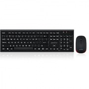 Perixx PERIDUO-711 Wireless Keyboard and Mouse Combo - Nano Receiver - Big Print Letters - Black
