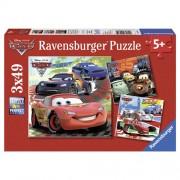 Puzzle lumea masinilor de curse, 3x49 piese, RAVENSBURGER