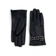 Ciepłe rękawiczki z futerkiem nabijane ćwiekami