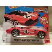 2016 Hot Wheels Hw Then And Now Aston Corvette Grand Sport Roadster 2/10 Short Card