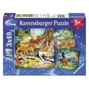 Ravensburger Disney Bambi, Balou en Simba - Drie puzzels van 49 stukjes