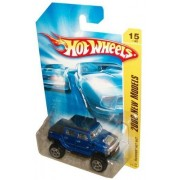 Mattel Hot Wheels 2008 New Models Series 1:64 Scale Die Cast Metal Car # 15 of 40 - Blue All Terrain Off-Road Sport Utility Vehicle SUV Hummer H2 SUT by Hot Wheels