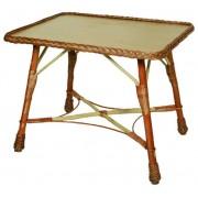Rattan asztal 80x60xm