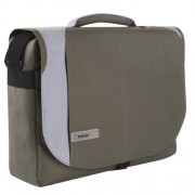 """Techair TAN4503 Besace-Custodia di protezione con quick pocket per PC portatile da 17,3 """", colore: verde/grigio"""