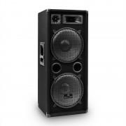 """Malone PW-2222 PA DJ Altavoz 3 vias2x 30cm (12"""") 1000W"""