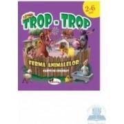 Trop-trop - Ferma animalelor - Carte de colorat - 2-6 ani