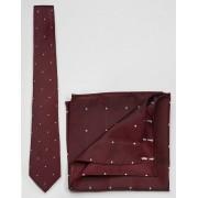 ASOS Галстук и платок-паше в горошек в комплекте ASOS - Красный