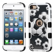 Funda Protector Triple Layer Apple Ipod Touch 5G / 6G Fútbol Blanco / Negro