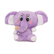 Tickles Purple Cute Colourful Baby Elephant Stuffed Soft Plush Toy 14 cm