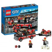 LEGO City - Transporte de la moto de carreras, multicolor (60084)